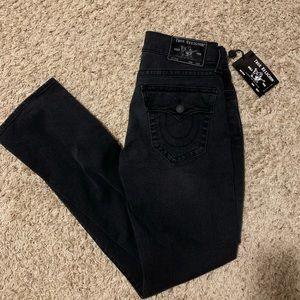 True Religion Ricky Flap SN Jeans Black Wash denim